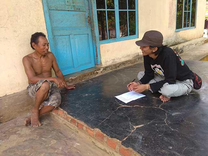 Pelaksanaan Survei KAP Desa Braja Yekti Tahun 2018