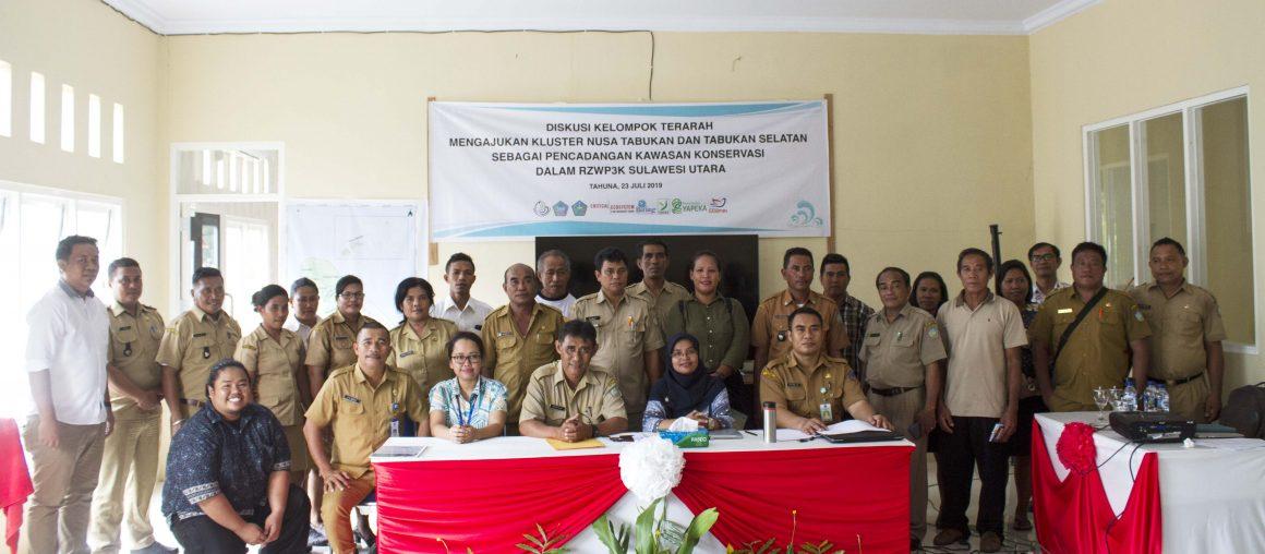 Pengajuan Kluster Nusa Tabukan dan Kluster Tabukan Selatan Sebagai Pencadangan Kawasan Konservasi Dalam RZWP3K Sulawesi Utara